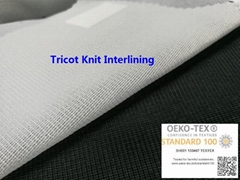 Tricot Knit Fusible Interlining