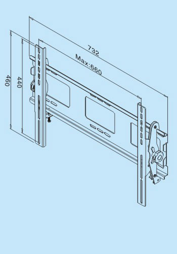 "LP6911 Bracket for LCD TV 50"" or Below 2"