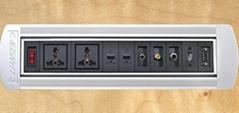 桌面插座-手動翻轉