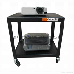 多功能设备架 会议投影机打印机多媒体设备移动工作台 黑色