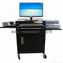 腦顯示器移動桌 投影儀器多媒體設備帶櫃推