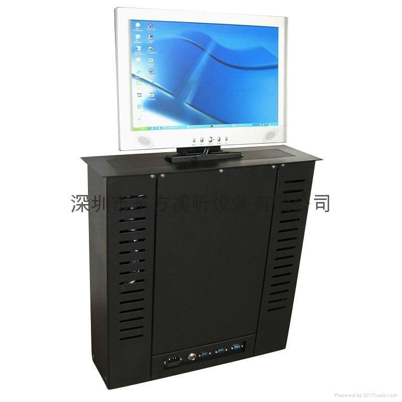 隱藏式液晶顯示器自動昇降支架 無紙化辦公電動支架  1