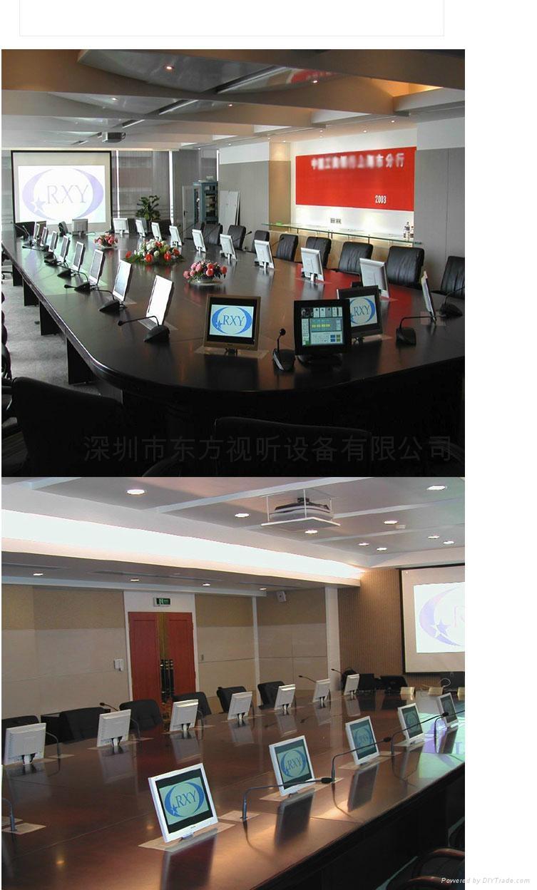 隱藏式液晶顯示器自動昇降支架 無紙化辦公電動支架  6