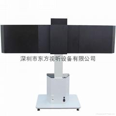 全封闭式电视电动升降双屏落地推车移动支架挂架