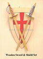 Wooden Sword & Shield Set