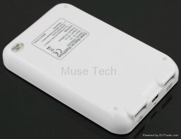 External Battery Charger Portable Backup USB charger Power Bank 5000mah 2