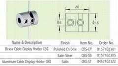 Brass (Aluminium) Cable Display Holder