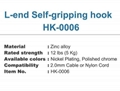 display L-end Self-gripping hook HK-0006