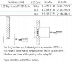 LED Sign Standoff 3225 Satin