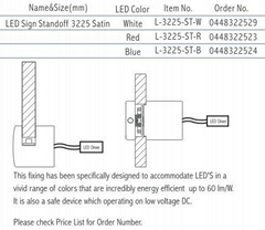 LED Sign Standoff 3225 S