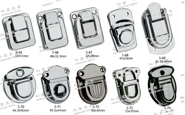 书包扣 金属锁 钥匙锁 工具箱 铁锁釦 文具 1
