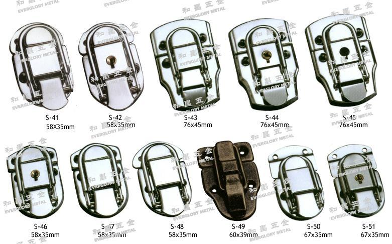 书包扣 皮革 铁锁 铜锁 钥匙锁 五金配件 1
