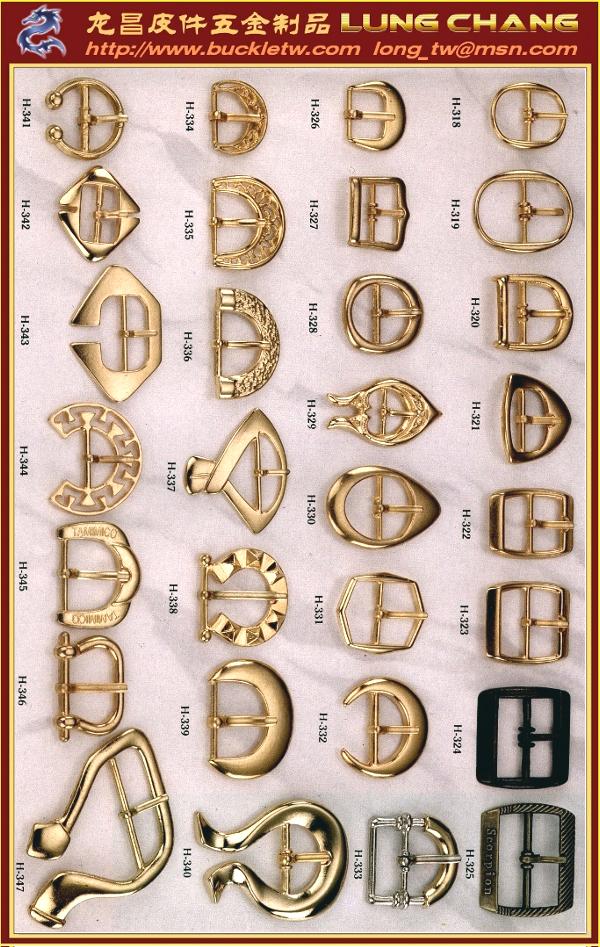 鞋扣及马蹄型饰扣 #H-318-H-347 1