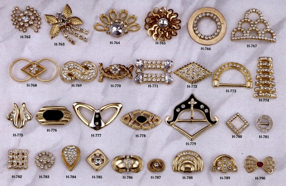 無鎳鑽類飾釦 # H-762-H-790 1