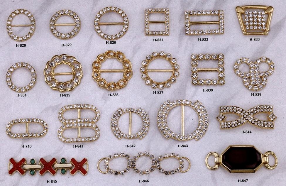 O型扣加鑽飾扣 # H-828-H-847 1