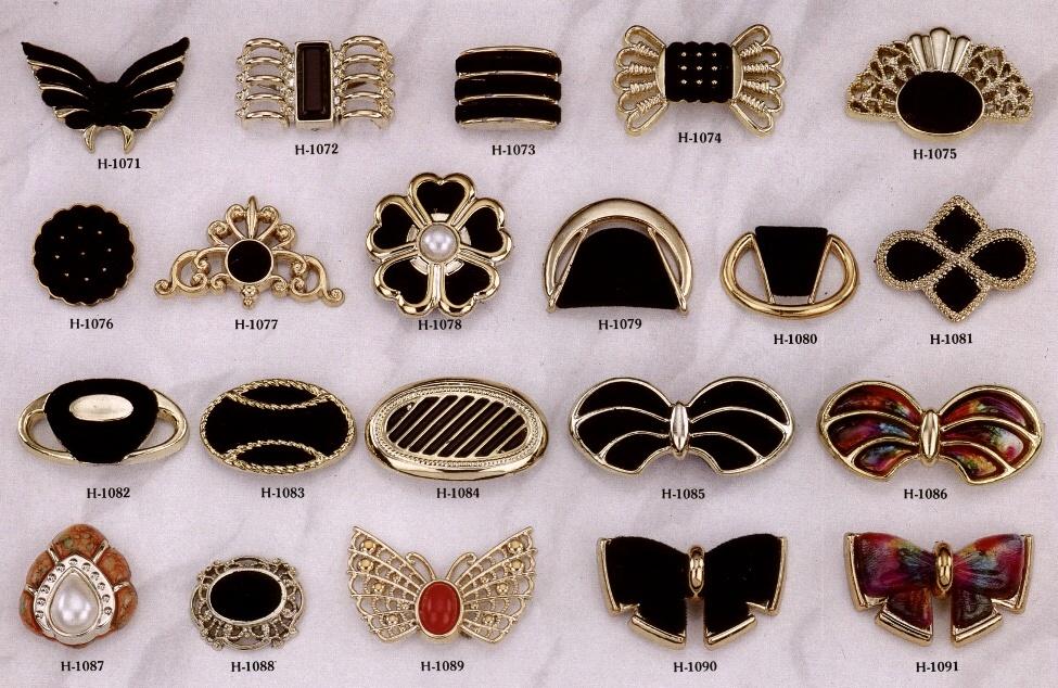 塑膠五金 鞋類 服裝 皮件 裝飾扣 # H-1071-H-1091 1