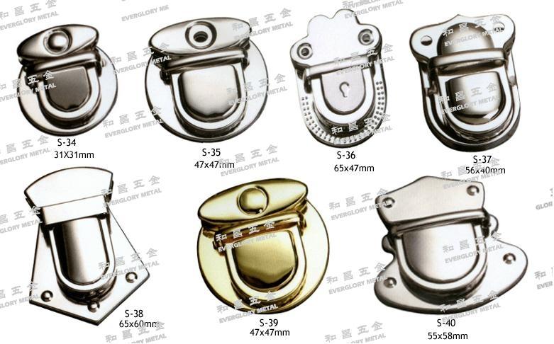 铁锁扣 书包锁 钥匙釦 五金配件 1