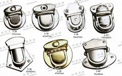 鐵鎖扣 書包鎖 鑰匙釦 五金配件
