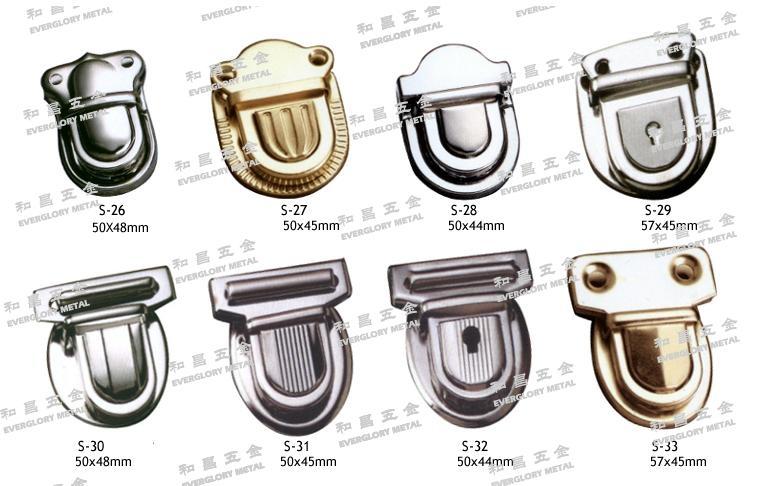 書包扣 皮革 鐵鎖 銅鎖 鑰匙鎖 五金配件 1