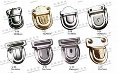书包扣 皮革 铁锁 铜锁 钥匙锁 五金配件