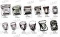 Hardware Metal brass locks turnlock metal locking clasp