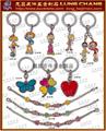品牌钥匙圈配件 人物造型 吊饰