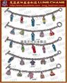 Character shape metal key ring