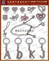 字母鑰匙圈 皮飾五金 金屬字母