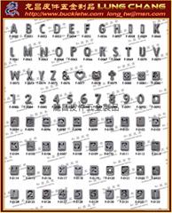 金屬串字配件