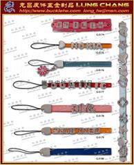 DIY字母饰品 皮饰五金 字母钥匙圈