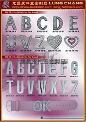 金属水钻字母 饰品