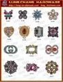 皮包 水鑽 帶頭 名牌 吊飾 五金 飾品 扣環 8
