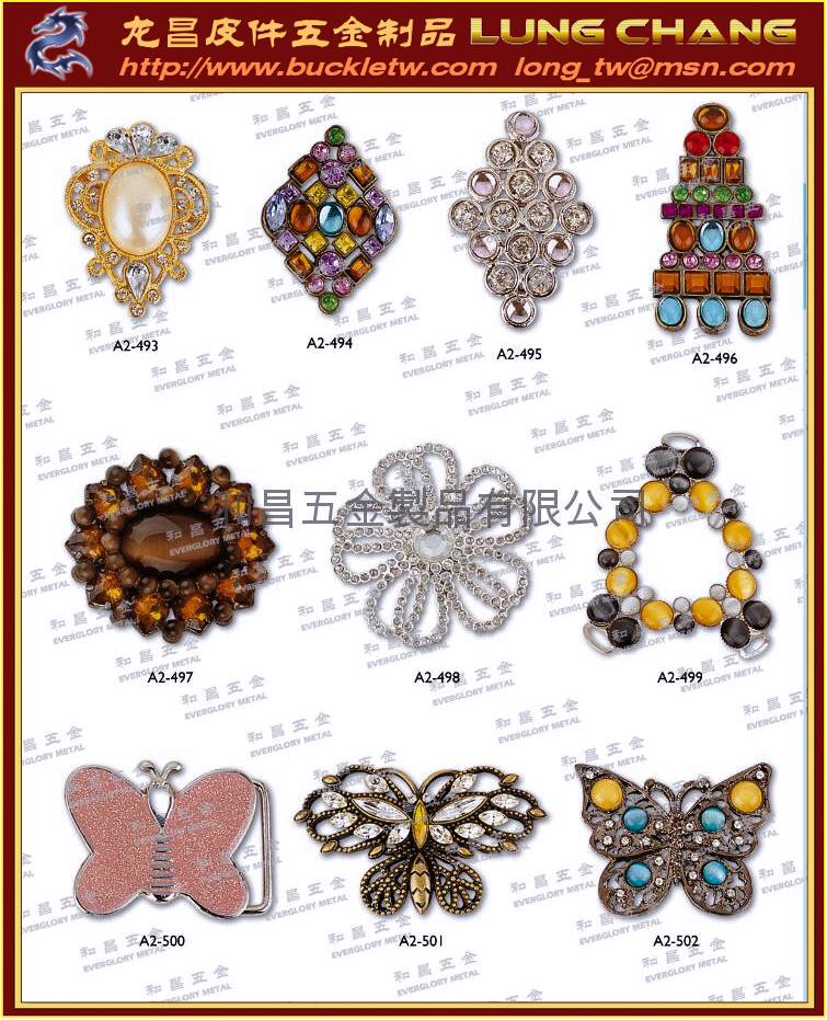 水鑽飾釦 服裝配件 鞋類扣件  織帶五金  服裝輔料 4