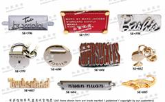 fashion garment Handbags logo metal label