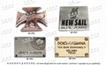 商標品牌 金屬LOGO銘牌 皮包吊牌 五金飾片 開發 設計 打樣 製造