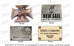 商标品牌 金属LOGO铭牌 皮包吊牌 五金饰片 开发 设计 打样 制造