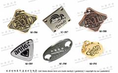 商标品牌 金属铭牌  LOGO吊牌 五金饰片 开发 设计 打样 制造