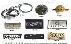 手袋五金 皮包配件 金屬銘牌 LOGO 品牌零件 開發 設計 打樣 製造