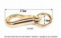 Leather purses metal  zinc buckle clasp