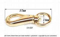 Leather purses metal  zinc buckle clasp dog buckle rotating hook