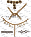 Rhinestone chain clothing and footwear