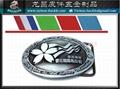 Marathon road race medal logo belt