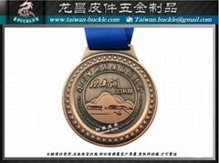 Marathon road race medal metal tag