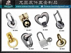 Phụ kiện túi da High quality handbags metal parts Brass ring buckle