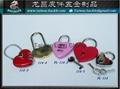 爱心锁 密码锁 心型锁 行礼箱