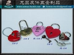 爱心锁 密码锁 心型锁 行礼箱锁 挂锁
