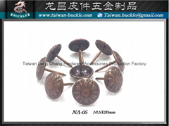 Decorative nails furniture metal sofa