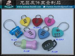 爱情锁 造型密码锁 金属爱心锁  行礼箱锁 挂锁