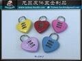 爱心锁 挂锁  爱情锁 心型锁 金属锁扣