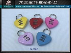 Love lock padlock love lock heart-shaped lock metal lock